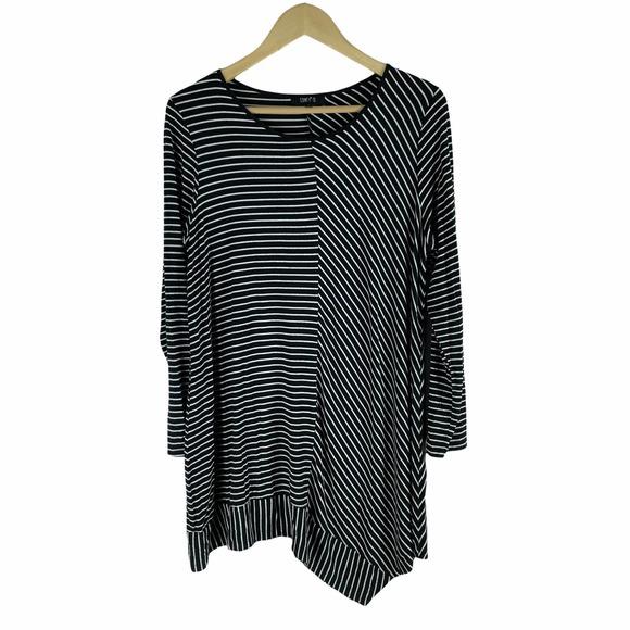 Comfy USA Striped Tunic Top Size L